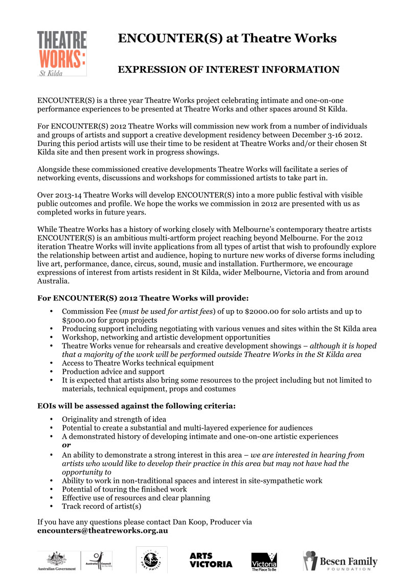 2013 encounters lab selection process encounters example of the 3 page expression of interest form from 2012 altavistaventures Image collections
